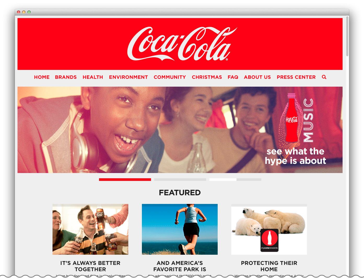 Coca-Cola Website Platform
