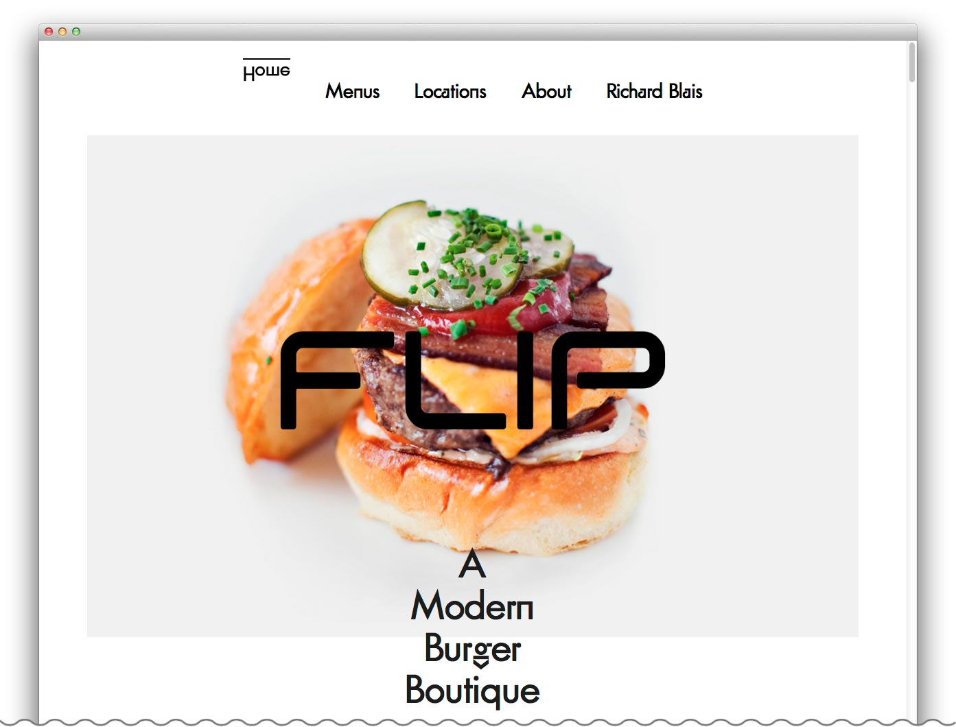 FLIP Burger Boutique Website