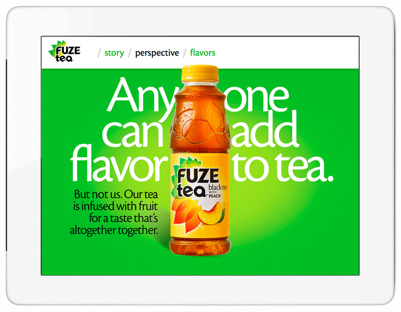 Fuze Tea Website